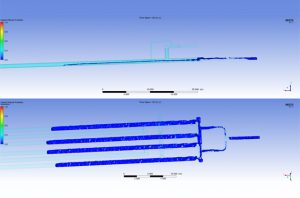 Harp/Finger Slug Catcher CFD Simulation, Liquid Interface