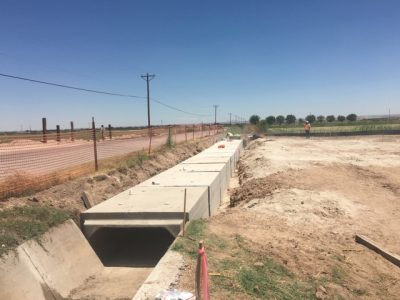 Box Culvert for Driveway Entrance to a Compressor Station (El Paso)